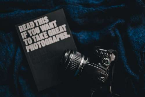 DSLR Camera and photography book