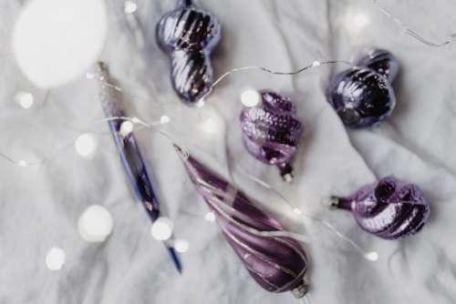 Pantone Ultra Violet Christmas Ornaments