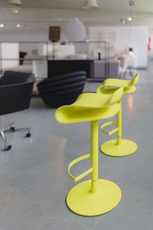 Tall yellow bar stool - Modern designer Bar chair