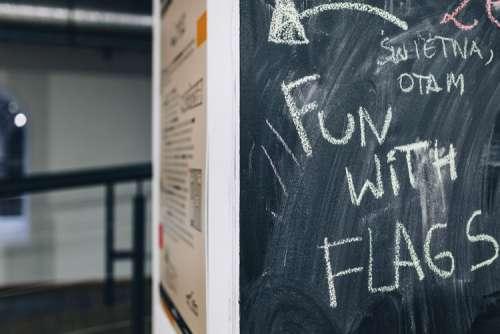 Chalkboard with handwritten words