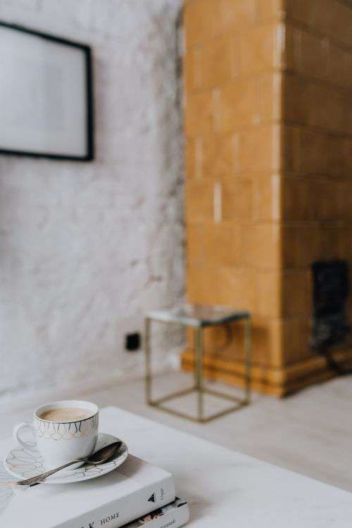 Living Room With Scandi Interior Design, Un'common Marble Table