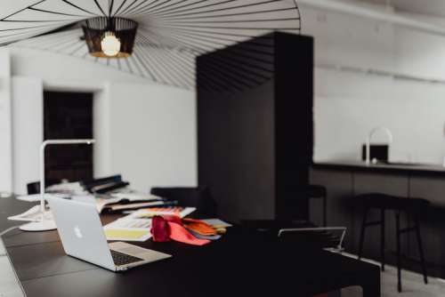 Modern interior of designer workplace