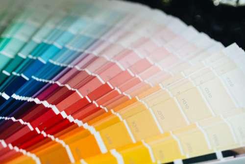 Color Palette Guide. Sample Colors Catalog.