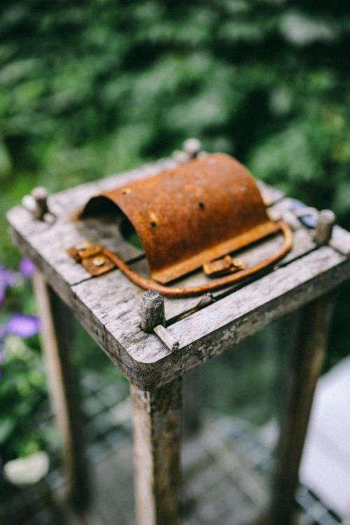 Old wooden lantern