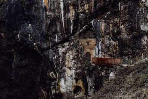 Predjama castle at the cave mouth in Postojna, Slovenia