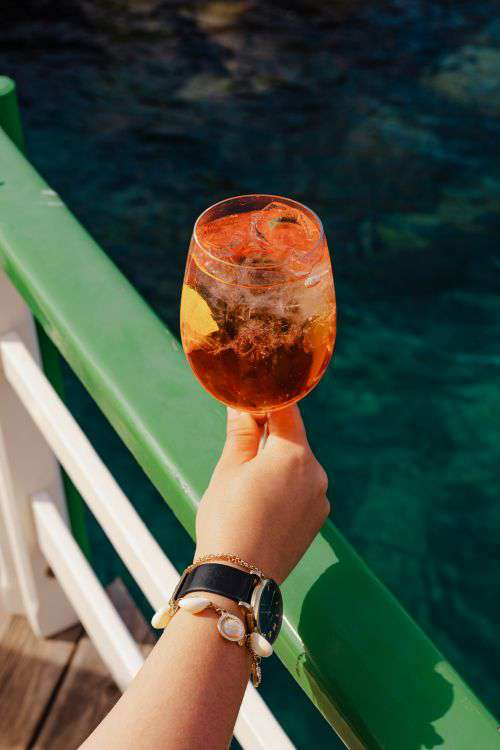 Summer drinks at the seaside