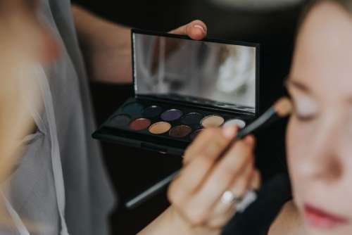 Make-up accessories close-ups