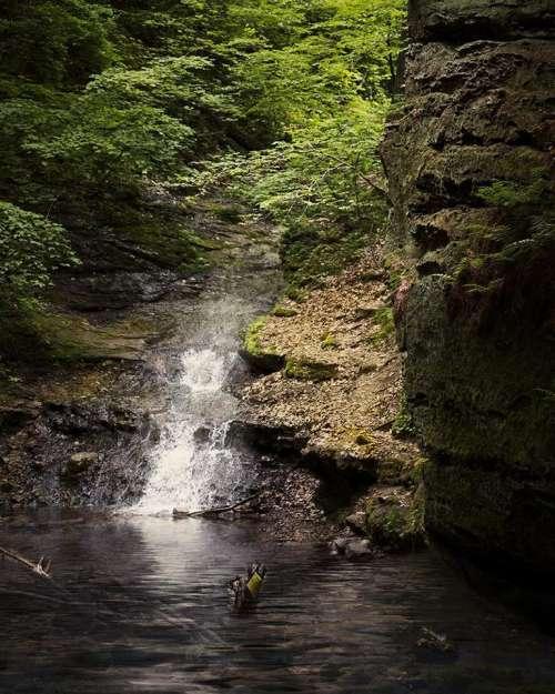 waterfall landscape nature