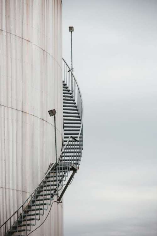 Industrial Tank Staircase Free Photo