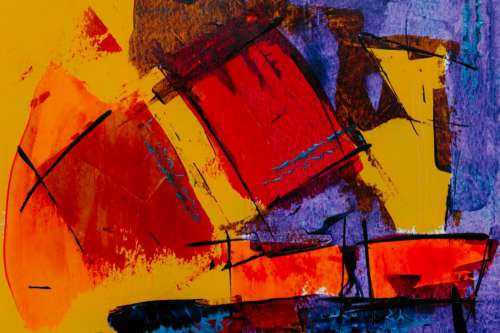 Colorful Abstract Painting Free Photo