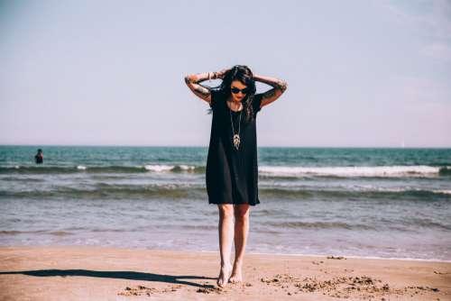 Woman at Beach Free Photo