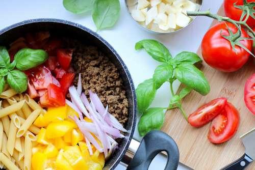 Pasta Dinner Ingredients Free Photo