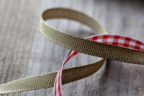 Gold and Plaid Ribbon Free Photo
