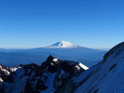 Blue Snowy Mountains Free Photo