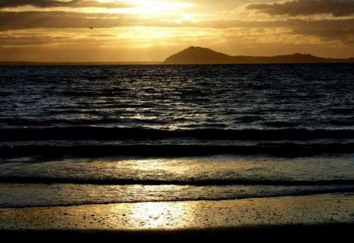 Warm Ocean Sunset Free Photo