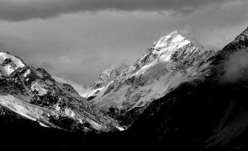Tall Winter Mountains Free Photo