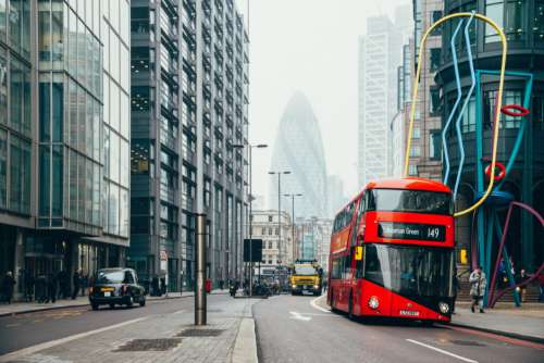 Red Double Decker Bus Free Photo