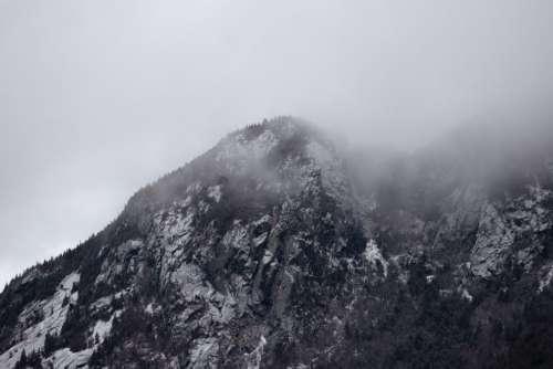 Mountain Cliff Fog Free Photo