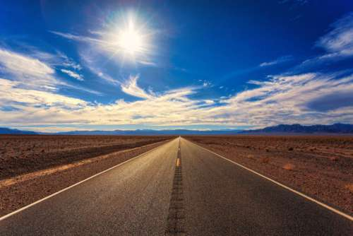 Desert Road Free Photo