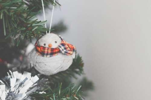 Snowman Decoration Christmas Tree Free Photo