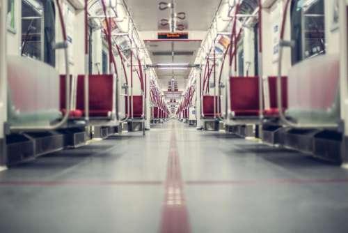 Inside Underground Train Free Photo