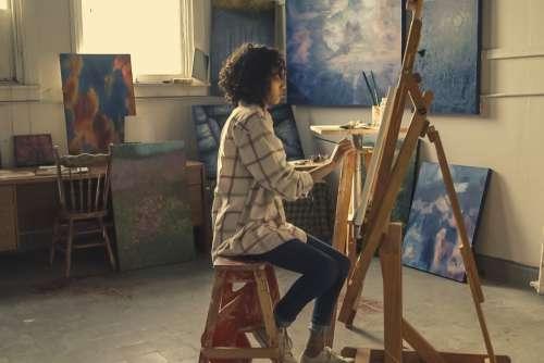 Studio Woman Artist Free Photo