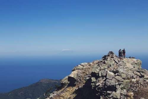 Family Mountain Top Free Photo