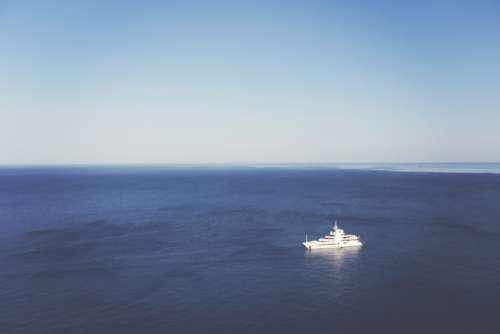 White Yacht Ocean Free Photo