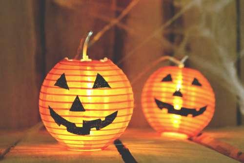 Halloween Pumpkin Lantern Candle Free Photo