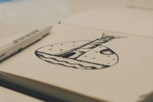 Drawing Notebook Creativity Free Photo