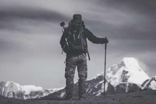 Hike Man Snow Mountain Free Photo