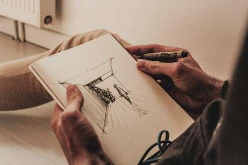 Man Sketch Scene Free Photo