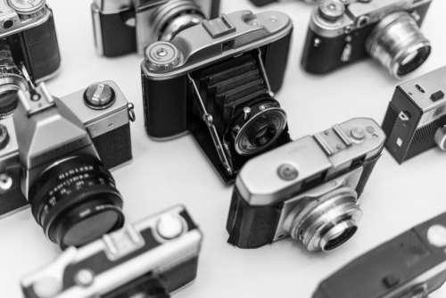 Collection Vintage Cameras Free Photo