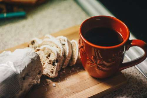 Black Coffee Cake Free Photo