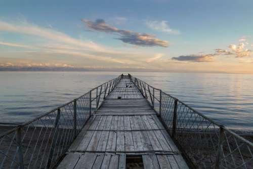 Weathered Dock Sea Free Photo