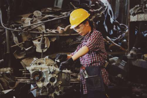 Female Factory Worker Free Photo