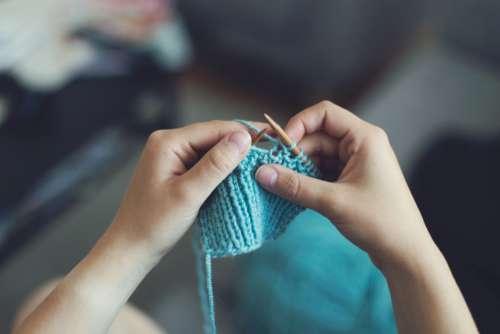 Woman Knitting Crafts Free Photo