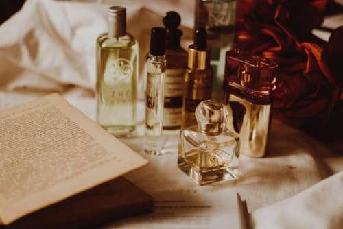 Open Book Perfume Bottles Free Photo