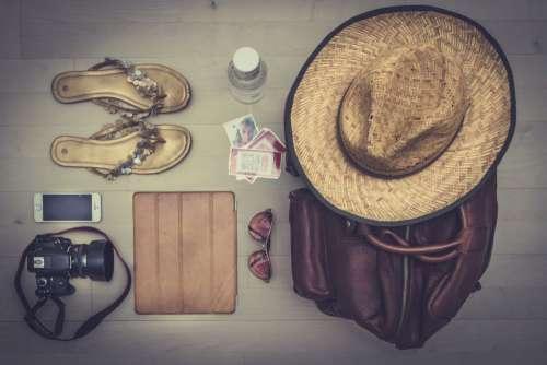 Summer Beach Essentials Free Photo