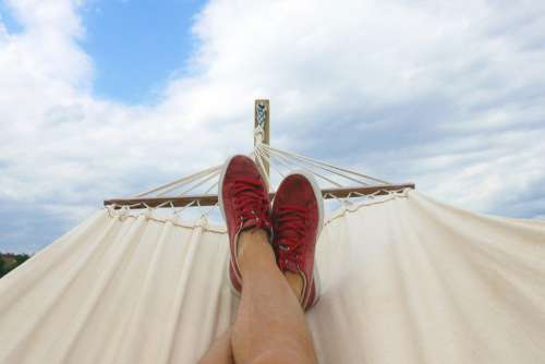 Hammock & Blue Sky Free Photo
