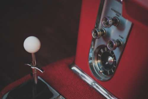 Vintage Gear Shift Free Photo