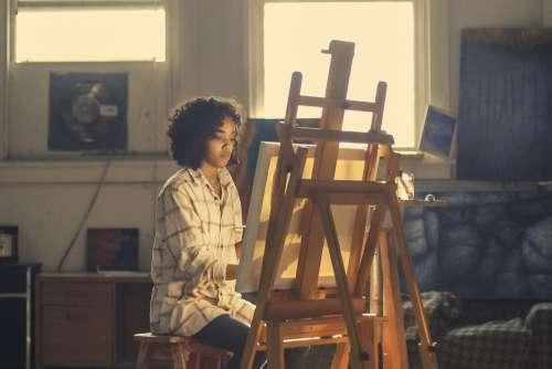 Woman Painter Artist Studio Free Photo