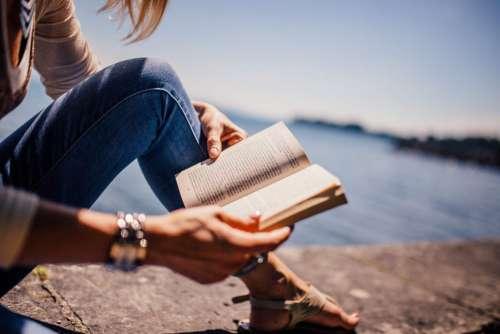 Woman Reading Book Free Photo