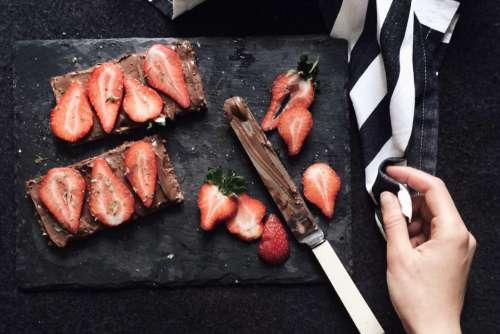 Sliced Strawberry Chocolate Free Photo