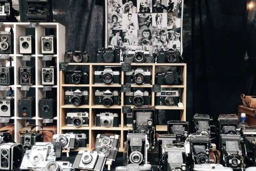 Vintage Camera Store Free Photo