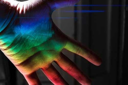 Rainbow Man Hand Art Free Photo