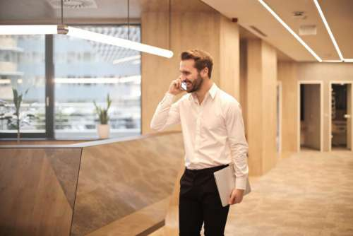 Beard Businessman Office Happy Free Photo