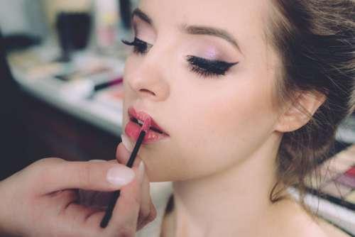 Woman Makeup Lipstick Free Photo