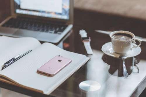 iPhone Laptop Coffee Free Photo