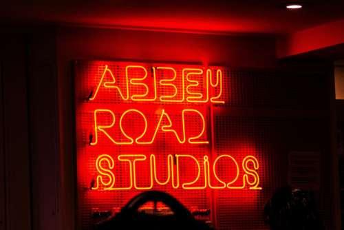 Studio Neon Sign Free Photo